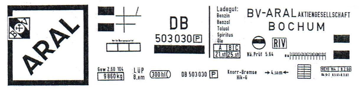 20151021 Gaßner Kesselwagen Beschriftungen ARAL